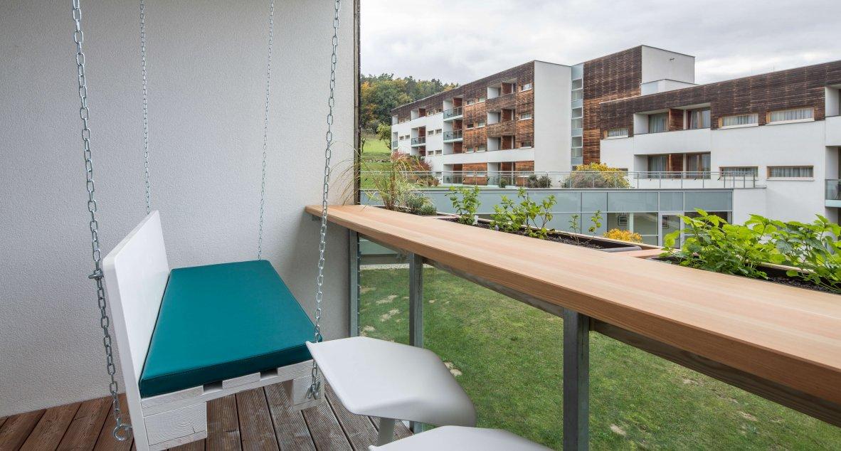 Balkon der modernen Apartments